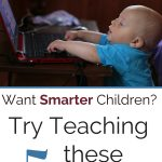 smart baby typing on laptop
