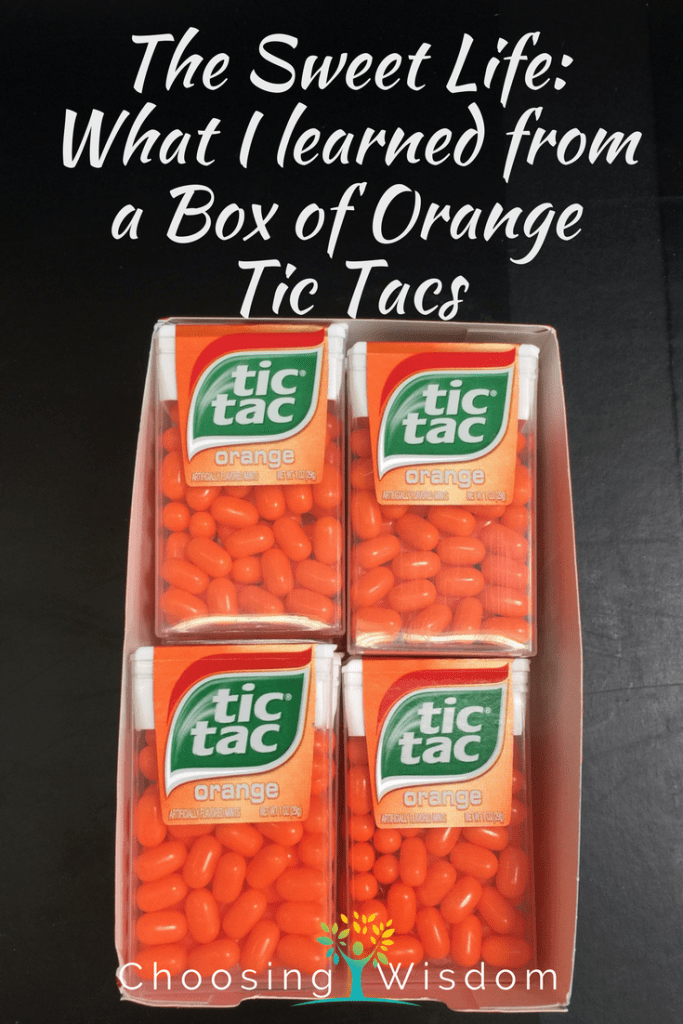 The Sweet Life - Box of Orange Tic Tacs