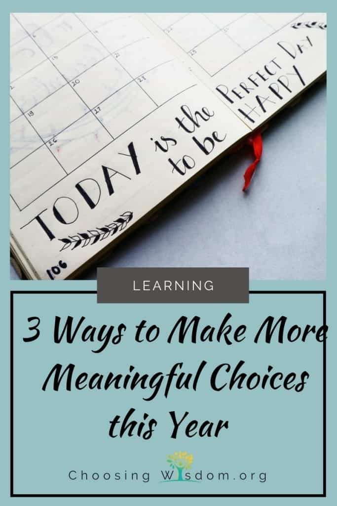 It's a new year, and if you're like me, it's time to reflect how our choices have changed us during the last twelve months. Time to evaluate our motivations to realign our purpose with our actions. #Resolutions