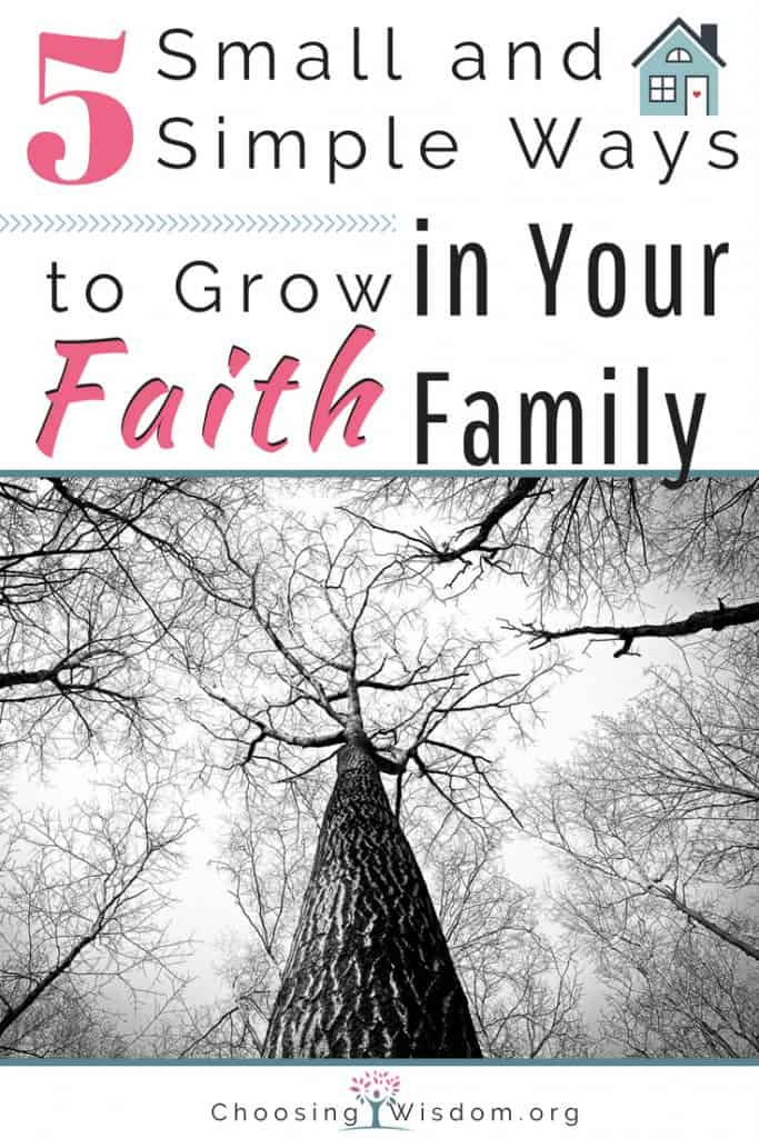 Small and Simple Ways to Grow Faith in Your Family 5