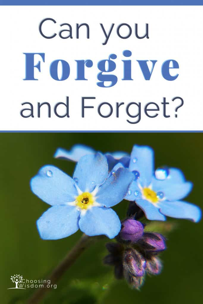 Can you Forgive without Forgetting?
