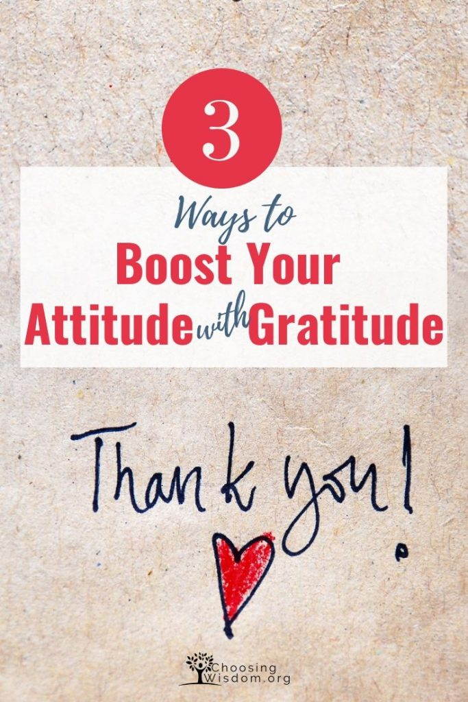 Boost Your Attitude with Gratitude