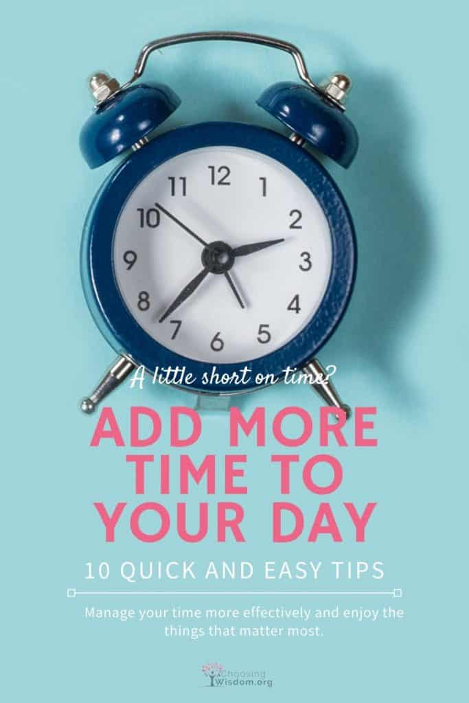 Add time to your day