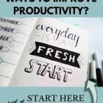 Planner perks for productivity