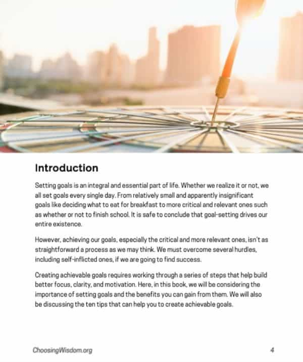The Goal Guide Introduction