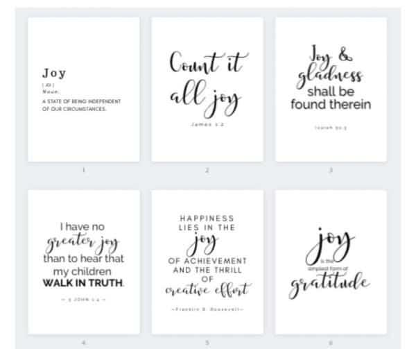 Joy Printable gallery